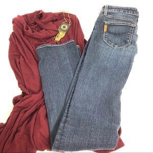 Paige Skyline Straight Medium Wash Jeans 26